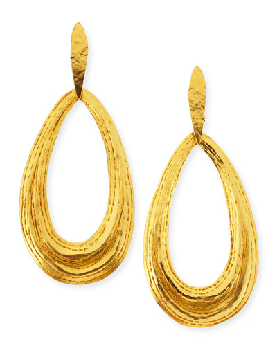 Herve Van Der Straeten Salome Teardrop Clip-On Earrings