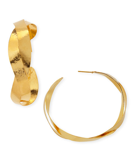 RUBAN TWISTED HOOP EARRING