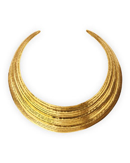 Herve Van Der Straeten Salome Gold Collar Necklace