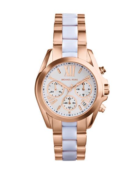 Mini Rose Golden/White Stainless Steel Bradshaw Chronograph Watch