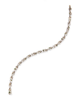 Alexis Bittar Fine Small Quartz, White Sapphire & Gray Diamond Tennis Bracelet