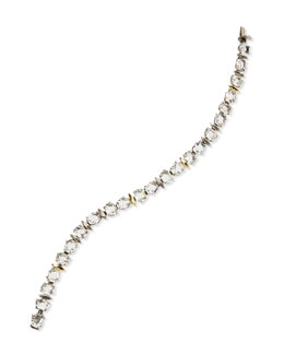 Alexis Bittar Fine Fancy-Cut & Oval Clear Quartz Tennis Bracelet