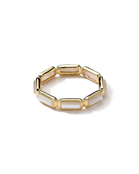 18k Gold Rock Candy Gelato Mini-Stone Ring, Mother-of-Pearl