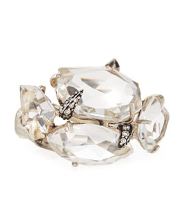 Alexis Bittar Fine Clear Quartz & White Diamond Cluster Ring