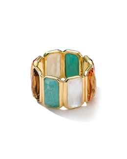 Ippolita 18k Gold Rock Candy Gelato Fancy Rectangle Lollipop Ring