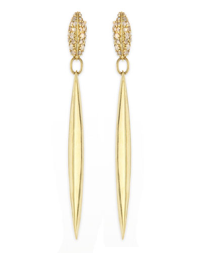 Alexis Bittar Fine Diamond & 18k Honey Gold Marquis Spike Drop Earrings