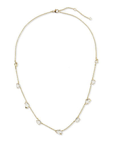Alexis Bittar Fine 18k Gold Quartz Station Necklace, 18""
