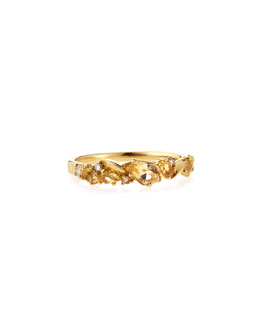 Alexis Bittar Fine Citrine & Diamond Cluster Band Ring