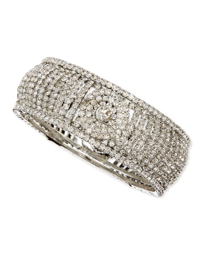 Chamak by Priya Kakkar White Crystal Bangle