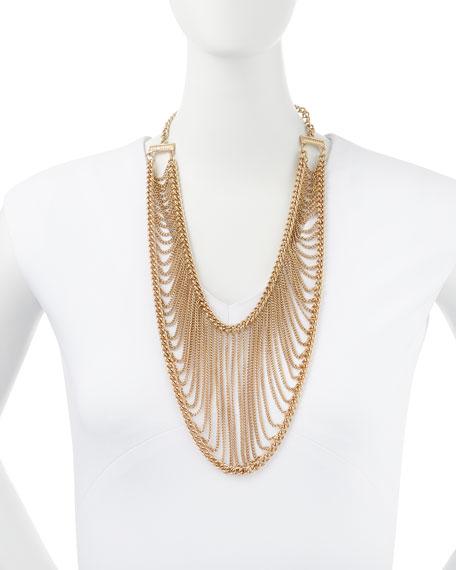 Golden Chain Net Necklace
