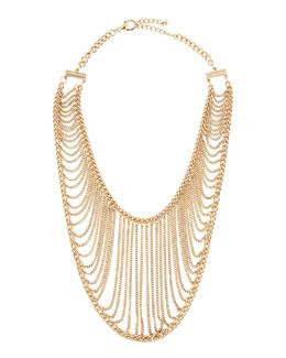 Chamak by Priya Kakkar Golden Chain Net Necklace