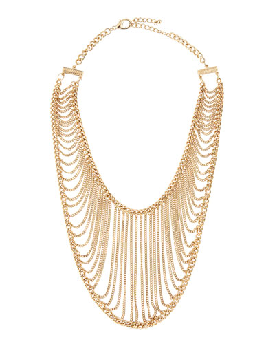 Chamak by Priya Kakkar Golden Chain Net Necklace