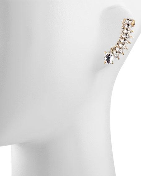 Crystal Ear Jacket Cuff Earring, Gold