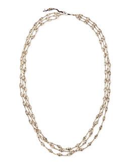 Nakamol Silver Metal Three-Strand Necklace