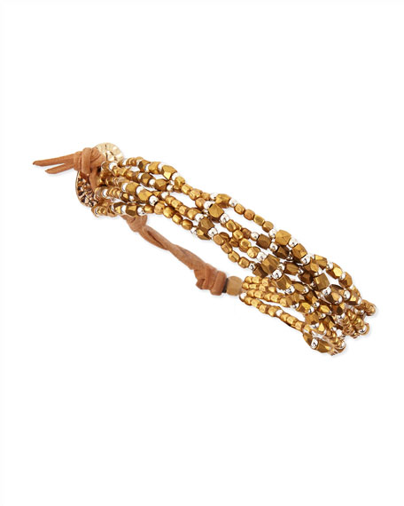 Multi-Strand Beaded Wrap Bracelet