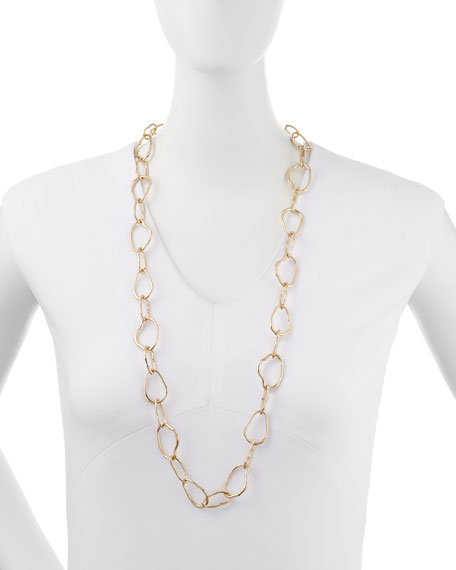 Golden Organic Chain Necklace