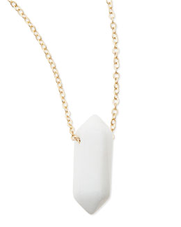 Panacea Small White Spike Pendant Necklace