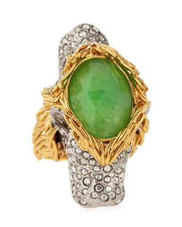 Alexis Bittar 2-Headed Pave Crystal Lion Ring