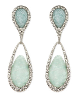 Alexis Bittar Dangle Clip-On Earrings, Green