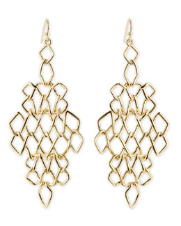 Alexis Bittar Golden Barbed Articulating Diamond-Shaped Drop Earrings