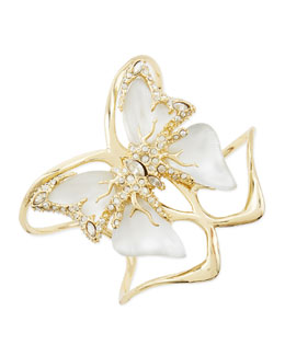Alexis Bittar Lucite Butterfly Bracelet, White