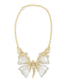 Alexis Bittar Crystal Mother-of-Pearl & Lucite Butterfly Necklace