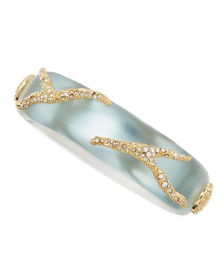 Crystal Pave Vine Bracelet, Gray/Blue