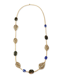 "Alexis Bittar Jardin Mystere Multi-Stone Station Necklace, 42""L"