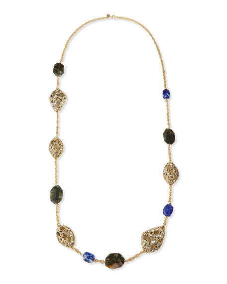"Jardin Mystere Multi-Stone Station Necklace, 42""L"