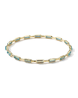 Ippolita 18k Gold Rock Candy Gelato 16-Stone Bangle, Blue Topaz
