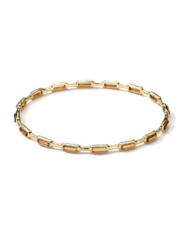 Ippolita 18k Gold Rock Candy Gelato 16-Stone Bangle, Cognac Citrine