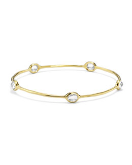 Ippolita 18k Gold Rock Candy 5-Stone Bangle in Clear Quartz
