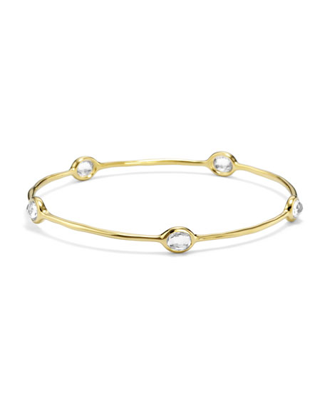Ippolita 18k Gold Rock Candy 5-Stone Bangle in