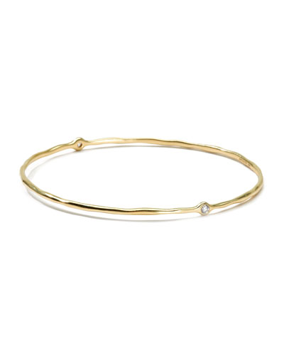 Ippolita 18K Gold 2 Diamond Bangle (Size 1)