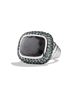 David Yurman Waverly Ring with Black Orchid and Gray Sapphires