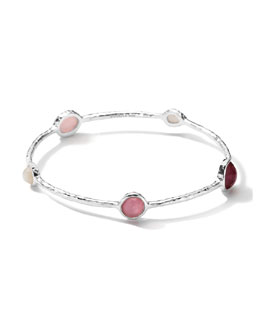 Ippolita Sterling Silver Wonderland 5-Stone Bangle in Rio