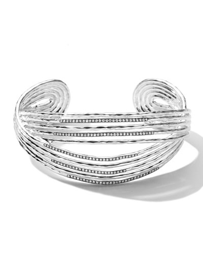 Ippolita Sterling Silver Wired Cuff with Diamonds