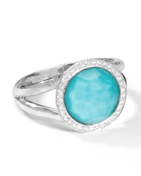 Ippolita Stella Mini Lollipop Ring in Turquoise Doublet