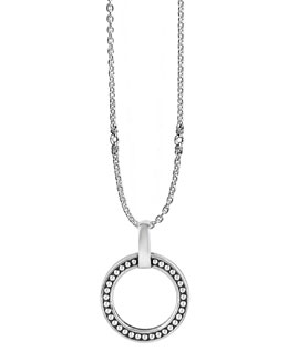 Lagos Sterling Silver Enso Circle Pendant Necklace