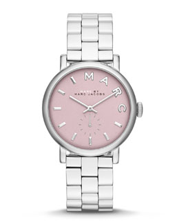 MARC by Marc Jacobs 36mm Baker Analog Watch with Bracelet Strap, Stainless Steel/Rose