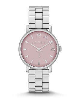 MARC by Marc Jacobs 28mm Baker Analog Watch with Bracelet Strap, Stainless Steel/Rose