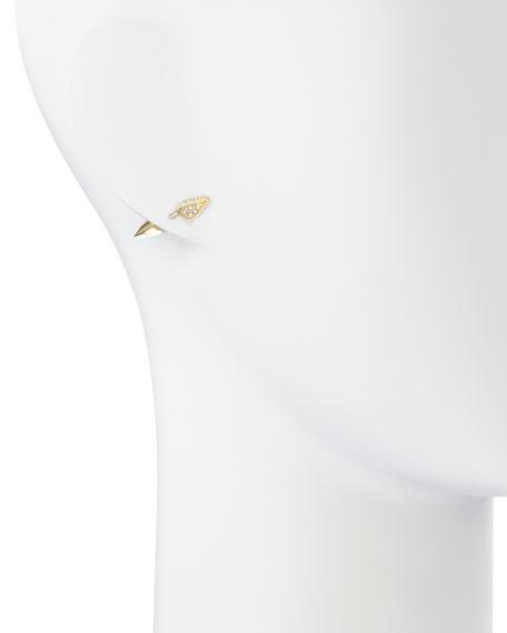 Vogel White Topaz Pave Studs
