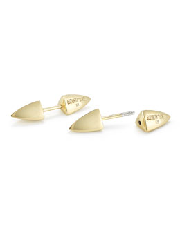Elizabeth and James Vogel Pyramid Spike Screw-On Stud Earrings
