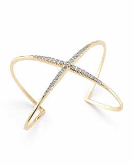Elizabeth and James Windrose Pave White Topaz Cuff