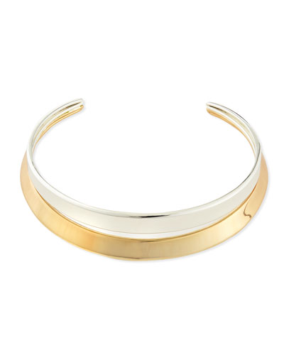 Robert Lee Morris Two-Tone Collar Necklace