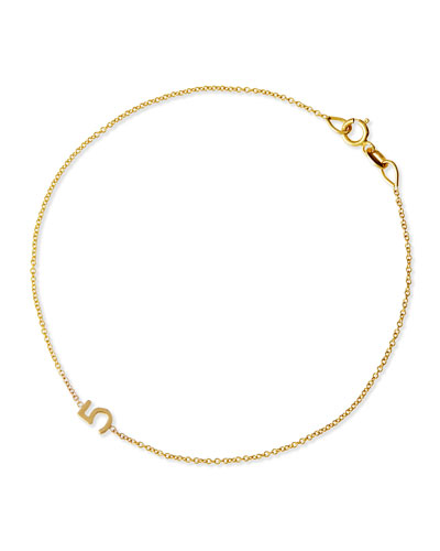 Maya Brenner Designs Mini Number Bracelet, Yellow Gold