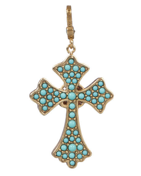 Jay Strongwater Maria Cross Pendant