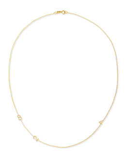 Maya Brenner Designs Mini 3-Number Necklace, Yellow Gold