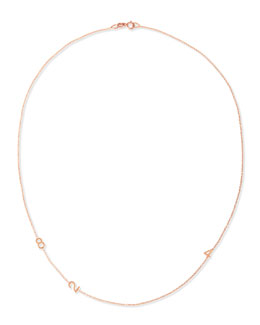 Maya Brenner Designs Mini 3-Number Necklace, Rose Gold