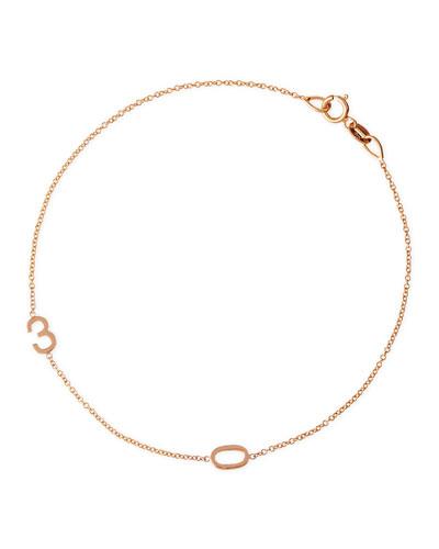 Mini 2-Number Bracelet, Rose Gold